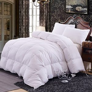Beautiful Topsleepy Luxurious All Size Bedding Goose Down Filling Comforter, White ( King Size)