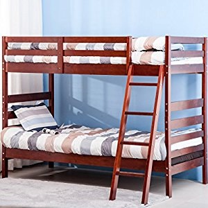 this solid wood bunk bed by merax promises you the essentials without unnecessary frills u2013 you get maximized space and highquality build