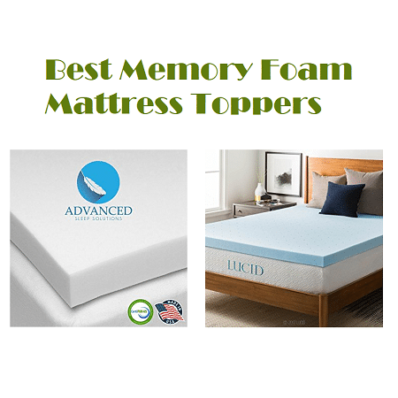 top 10 best memory foam mattress toppers in 2018 complete guide. Black Bedroom Furniture Sets. Home Design Ideas