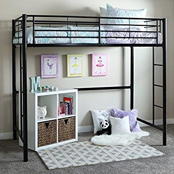 Gift Your Kid A Comfortable Means To Relax With Home Accent Furnishings Twin Over Loft Metal Bunk Bed