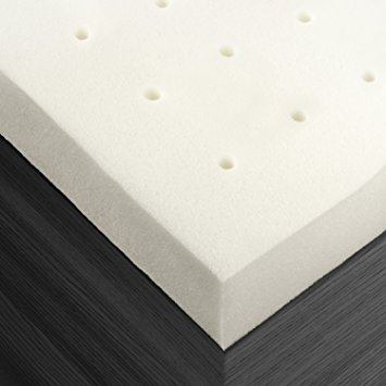 this memory foam mattress topper is 2 inches thick and is crafted from premium quality material that provides support to your neck and back all throughout
