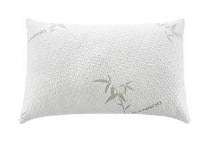 Alveo Premium Quality QueenStandard Size 17X25-Inches Shredded Memory Foam Pillow with a Removable Washable Soft Zip Bamboo Fiber Cover – Assorted Sizes and Luxury Design