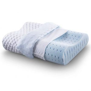 cr sleep ventilated memory foam contour pillow with aircell technology