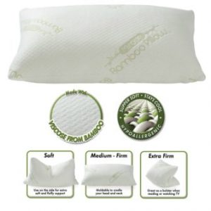 The Original Miracle Bamboo Shredded Memory Foam Pillow – Queen