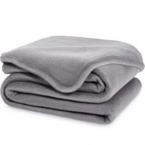 Equinox Polar Fleece Blanket (90″ x 90″) – Dove Grey, Super Soft & Warm Luxurious Fleece, Lightweight, Easy-Care Throw for Sofa, Bed, or Chair, Queen Size