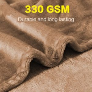 Lightweight Fleece Blanket, Super Soft Flannel Blankets Bed or Couch Blankets, Soft Cozy and Warm (Rich Textured Fuzzy), Twin 66″ x 90″ Camel – by H.Versailtex