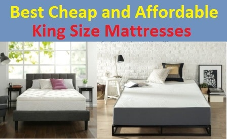 Top 15 Best Cheap and Affordable King Size Mattresses in 2017