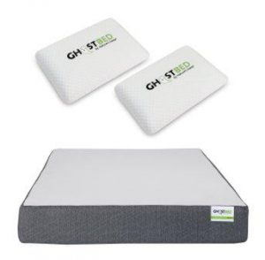 GhostBed 11 Inch Cooling Gel Memory Foam Cal King Mattress with 20 Year Warranty & 2 Real-Time Cooling GhostPillows