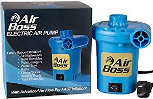 VERY FAST Electric Air Pump For Inflatables, 1,000 Liters of Air Per Minute