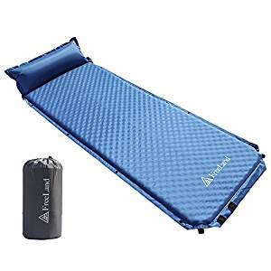 Freeland Camping Sleeping Pad Self Inflating with Attached Pillow