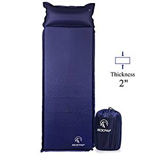 REDCAMP Self-Inflating Sleeping Pad with Attached Pillow