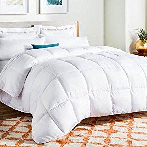 Linenspa White Goose Down Alternative Comforter With Duvet Tabs Queen