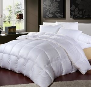 Luxurious 1200 Thread Count Goose Down Comforter King Size 1200tc 100 Egyptian Cotton Cover 750 Fill 50 Oz Weight White Color