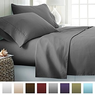 Beckham Hotel Collection Luxury Soft Brushed Microfiber 4 Piece Bed Sheet Set Deep Pocket Queen