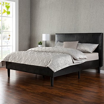 Zinus Deluxe Faux leather Upholstered Platform Bed