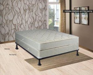 Continental Sleep Hollywood Collection Orthopedic Fully Assembled Mattress and Box Spring Set - Ample Support for Your Back - Premium 357 Coil Innerspring - Queen