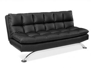 Pearington Pillow Top Bella Futon Sofa Lounger, Black