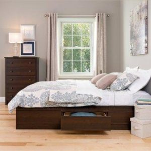 dd2ce5527278 And it provides massive storage space Prepac Queen Mate s Platform Storage  Bed with 6 Drawers