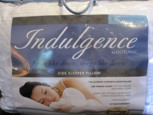 Indulgence StandardQueen Side Sleeper Pillow by Isotonic