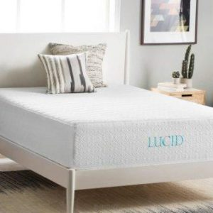 LUCID 14 Inch Plush Memory Foam Mattress – Ventilated Gel Memory Foam + Bamboo Charcoal Infused Memory Foam – CertiPUR-US Certified – 25-Year Warranty – Full