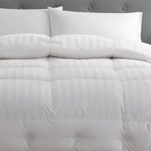 Pacific Coast Stripe Pattern 500 Thread-Count Pyrénées Down King Luxury Comforter