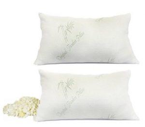 Pillows – Original Bamboo Pillow – Adjustable Shredded Memory Foam – Set of 2