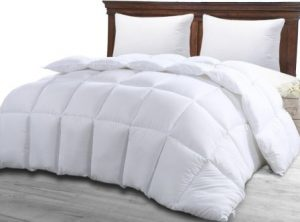 COMFORTER DUVET INSERT WHITE – QUILTED COMFORTER WITH CORNER TABS – HYPOALLERGENIC, PLUSH SILICONIZED FIBERFILL, BOX STITCHED DOWN ALTERNATIVE COMFORTER BY UTOPIA BEDDING