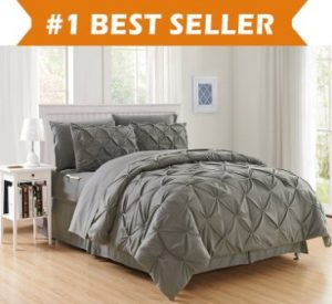 LUXURY BEST, SOFTEST, COZIEST 8-PIECE BED-IN-A-BAG COMFORTER SET! ELEGANT COMFORT – SILKY SOFT COMPLETE SET INCLUDES BED SHEET SET WITH DOUBLE SIDED STORAGE POCKETS