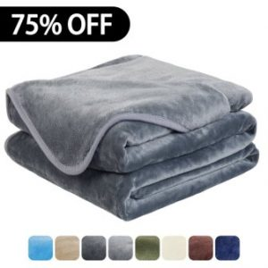 Luxury Fleece Super Soft Thermal Blanket Warm Fuzzy Micro Plush Lightweight Blankets for Bed Sofa, Seashell Series, King, 90 by 108 Inches (Gray)