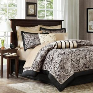 MADISON PARK AUBREY 12 PIECE JACQUARD COMPLETE BED SET