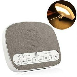 PROALLER White Noise Machine, Sleep Sound Machine with 8 Soothing Natural Sounds, LED Night Light, Timer and USB Charging Port