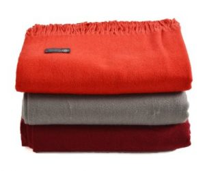 Pure Cashmere Throws (Burgundy, 52″ x 72″)