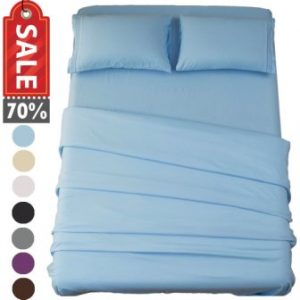 SONORO KATE BED SHEET SET SUPER SOFT MICROFIBER 1800 THREAD COUNT LUXURY EGYPTIAN SHEETS 18-INCH DEEP POCKET WRINKLE AND HYPOALLERGENIC-3 PIECE