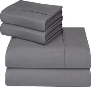 UTOPIA BEDDING 4-PIECE BED SHEET SET – SOFT BRUSHED MICROFIBER WRINKLE FADE AND STAIN RESISTANT