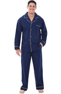 Alexander Del RossaMens Cotton Pajamas, Long Woven Pj Set