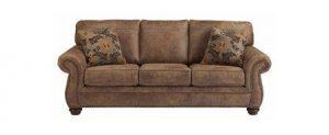 Ashley Furniture Signature Design Larkinhurst Traditional Sleeper Sofa Queen Size Faux Weathered Leather