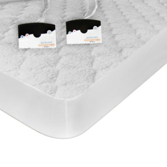 Biddeford Blankets 5303-9051128-100 Sherpa Heated Mattress Pad