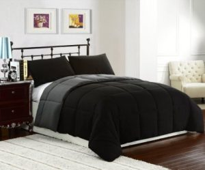 Cozy Beddings 3-Piece Lightweight Reversible Down Alternative Summer Comforter Set, KingCal King, GreyBlack