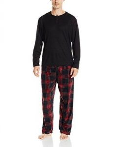 464da9bcc6320 ... Essentials by Seven Apparel Men s Long-Sleeve Top and Fleece Bottom Pajama  Set