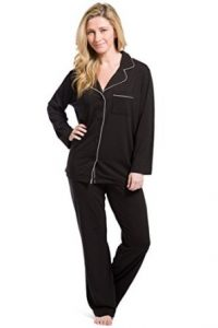 Fishers Finery Women's EcoFabricFull Length Pajama Set; Long Sleeve with Gift Box