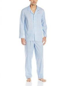 Fruit of the Loom Men's Long Sleeve Broadcloth Pajama Set