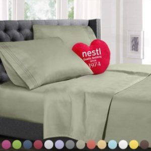 ... King Size Bed Sheets Set Sage, Highest Quality Bedding Sheets Set On  Amazon, 4