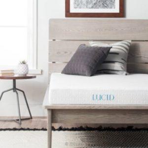 LUCID 5 Inch Gel Memory Foam Mattress – Dual-Layered – CertiPUR-US Certified – Firm Feel – King Size