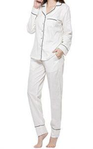 LamourLove Pajamas For Women Luxury Womens Pajamas 100% Cotton Women's Pajamas Set
