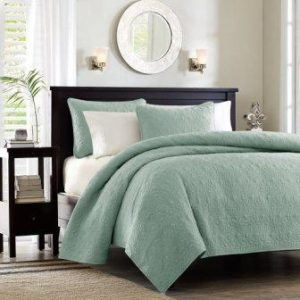 Madison Park Quebec Dusty Pale Seafoam 3-Piece Quilted King Coverlet Set