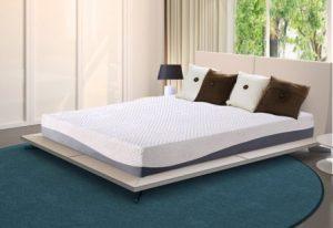 Olee Sleep 10 Inch Grey I Gel Layer Top Memory Foam King-Size Mattress