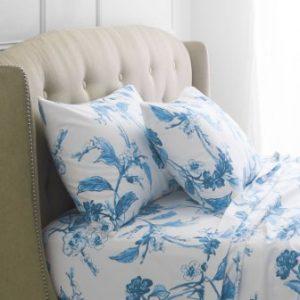 Pinzon Signature 190-Gram Cotton Heavyweight Velvet Flannel Sheet Set – King, Smoky Blue