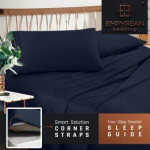 The Premium King Size Sheets Set U2013 Dark Navy Blue Hotel Luxury 4 Piece Bed  Set