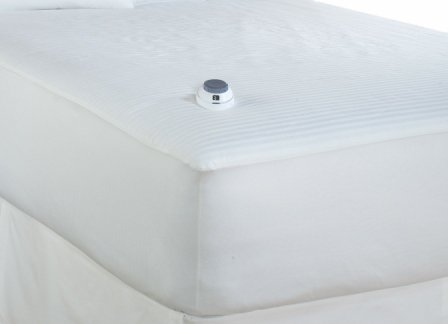Serta 233-Thread Count Waterproof Low-Voltage Electric Heated Queen Mattress Pad