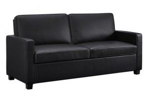 Signature Sleep Casey Faux Leather Queen Size Sleeper Sofa With Certipur Us Certified Memory Foam